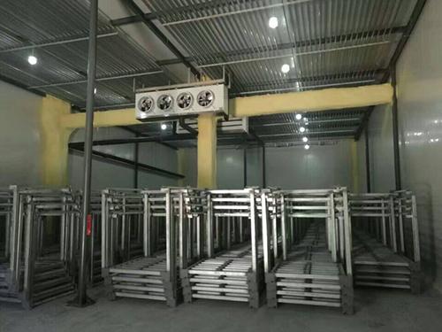 肯德制冷承建的安徽芜湖小型板栗速冻冷库
